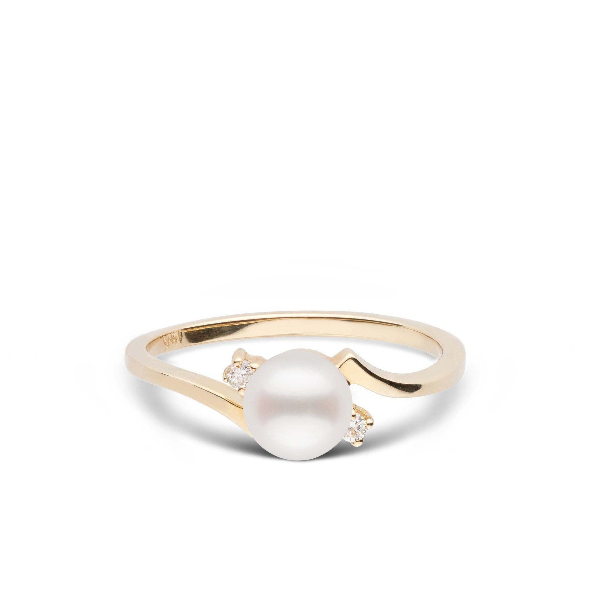 Starlight Collection Freshadama Pearl and Diamond Ring