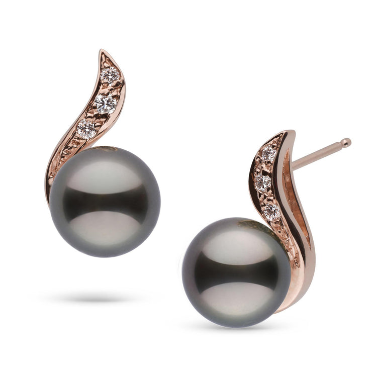 Symphony Collection Tahitian Pearl and Diamond Earrings