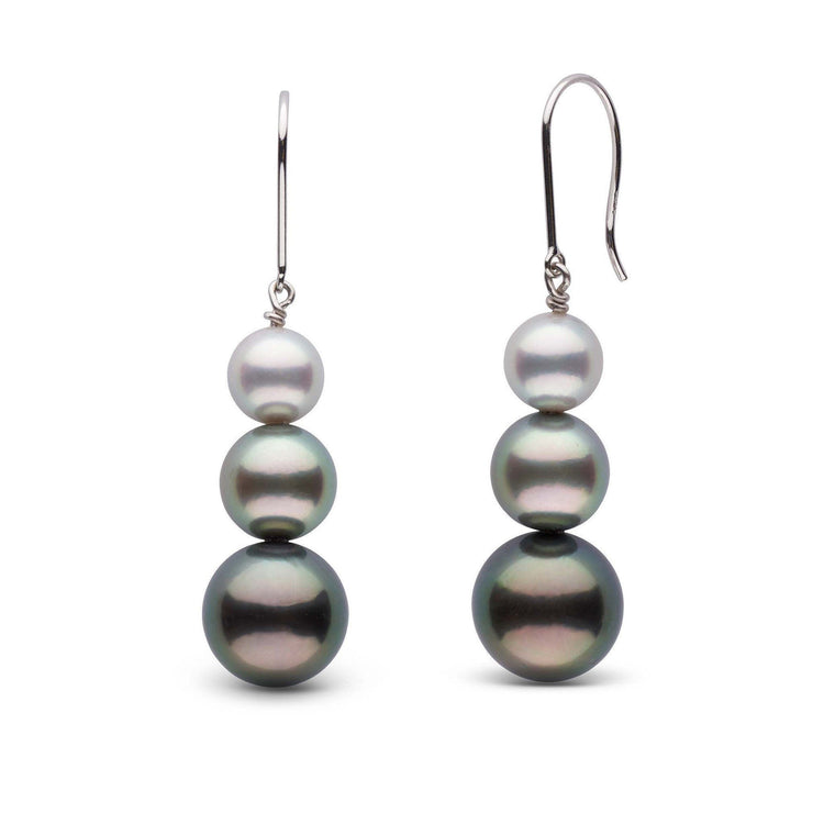 Tahitian and Akoya Pearl Ombre Earrings