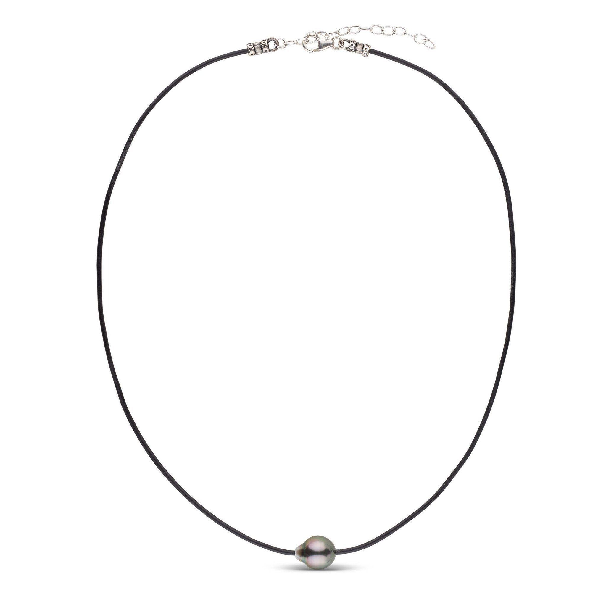 Tahitian Baroque Pearl Leather Necklace