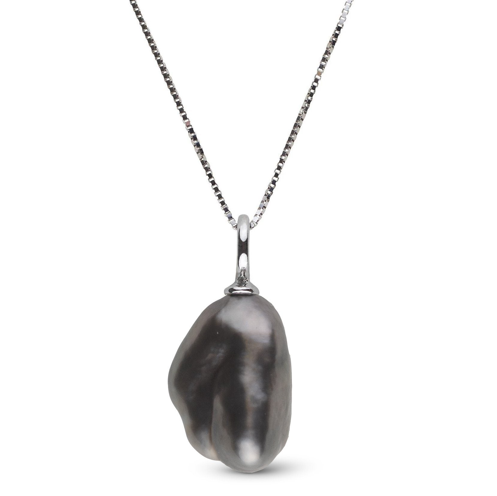 Muse Collection Unique Keshi Tahitian Pearl Pendant