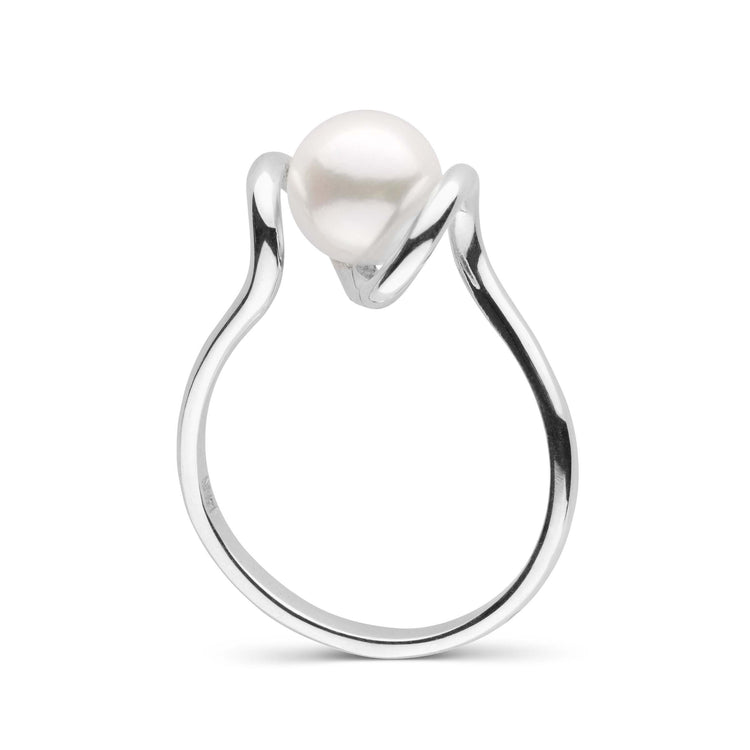 Tendril Collection Akoya Pearl Ring in Sterling Silver