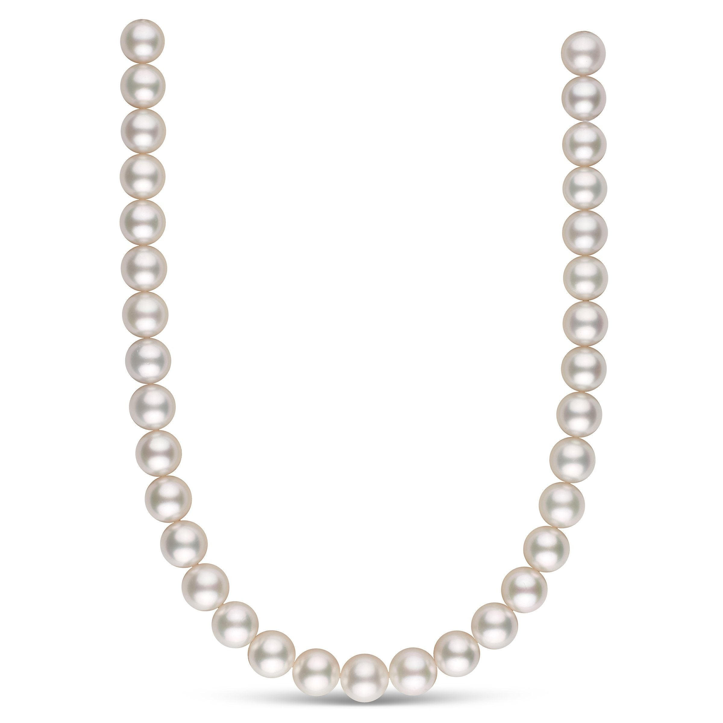 12.0-13.0 mm AAA White South Sea Round Pearl Necklace