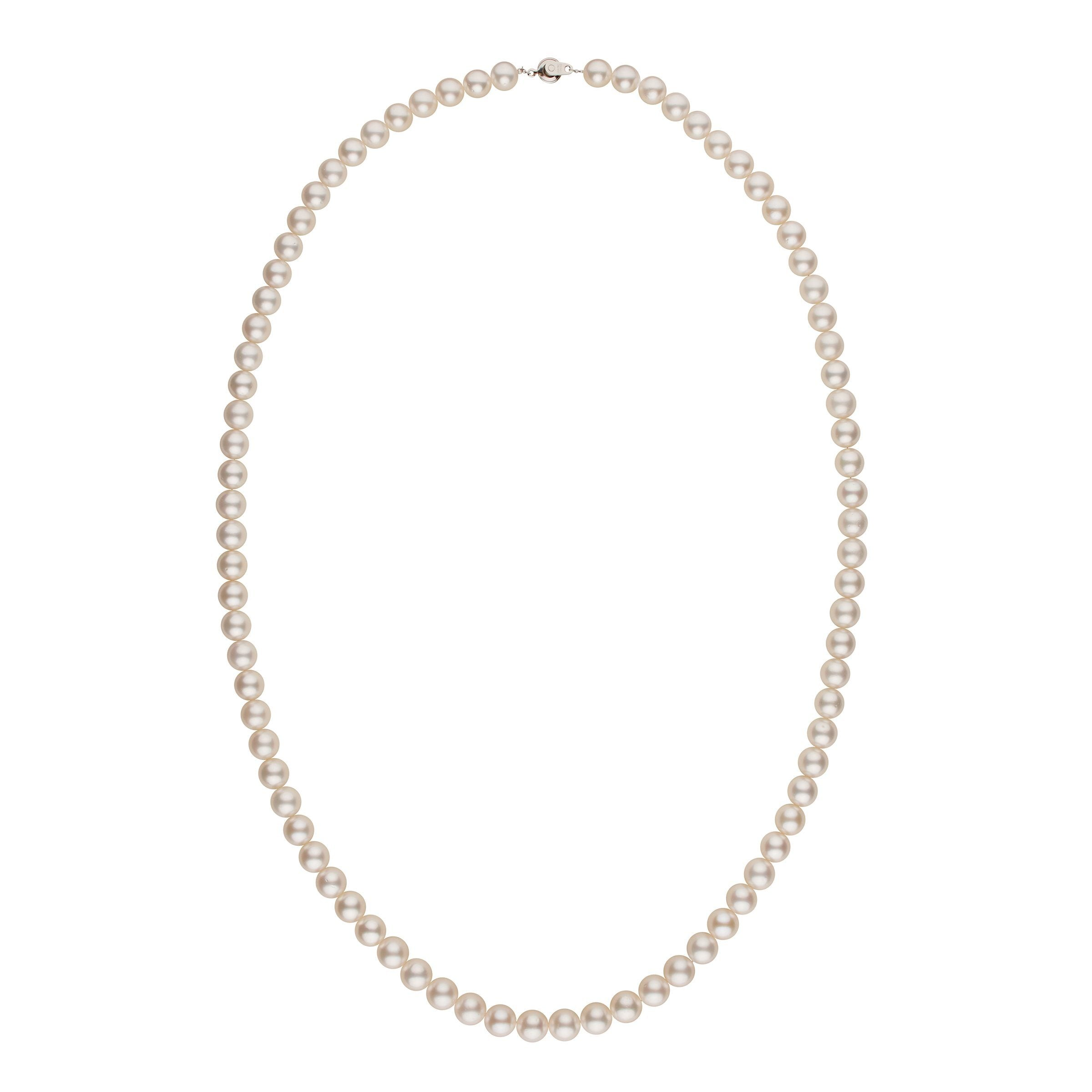 10.0-11.0 mm AA White South Sea Round Pearl Necklace - 36 Inches