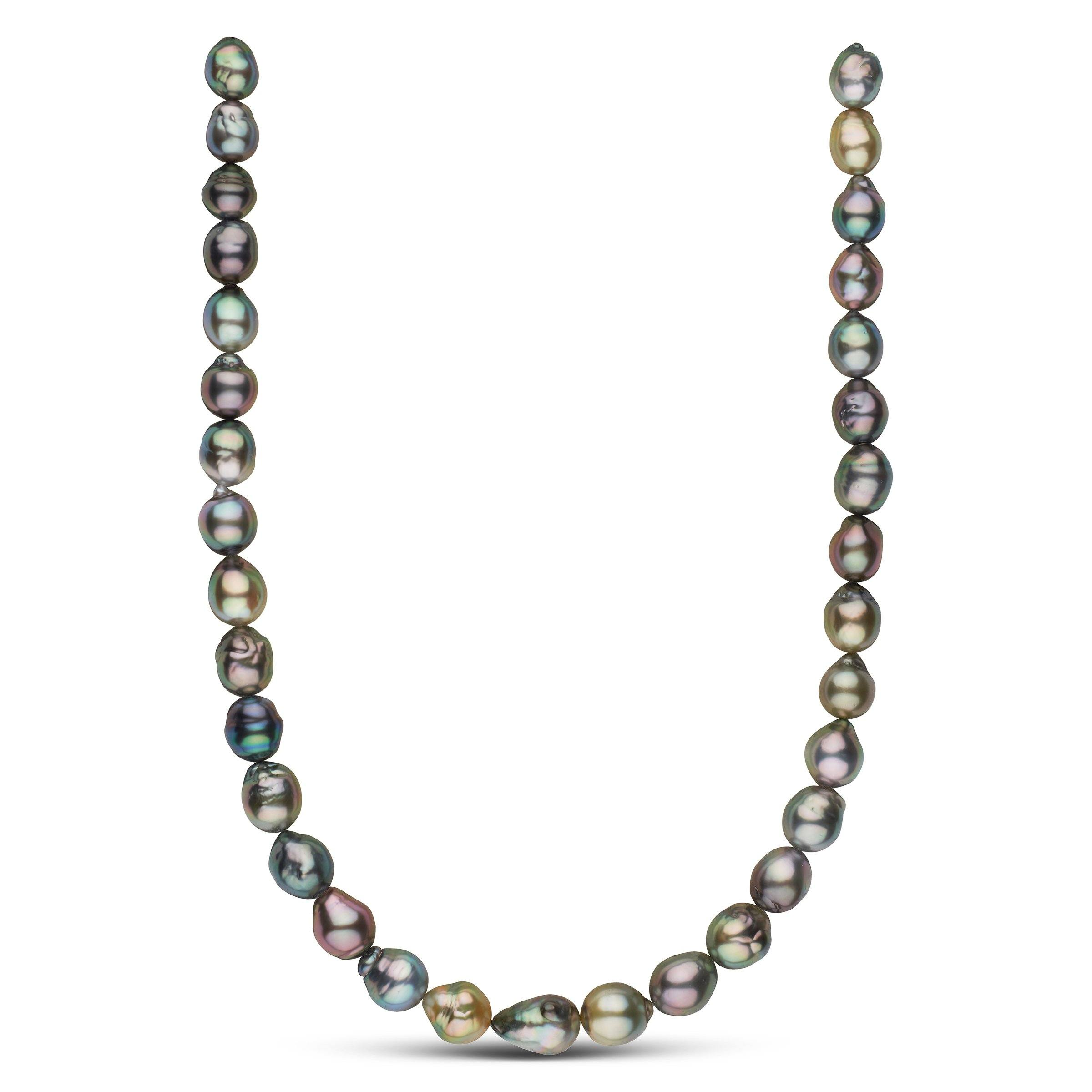 18-inch 10.1-11.6 mm AAA Freeform Baroque Tahitian Pearl Necklace