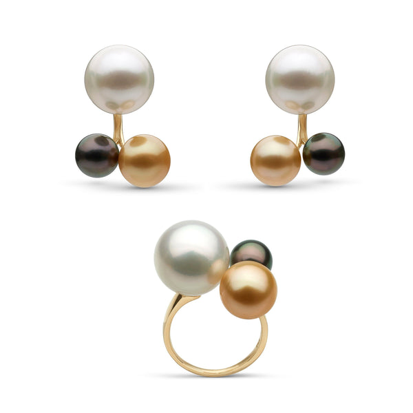 Trinity Pearl Earring and Ring Set