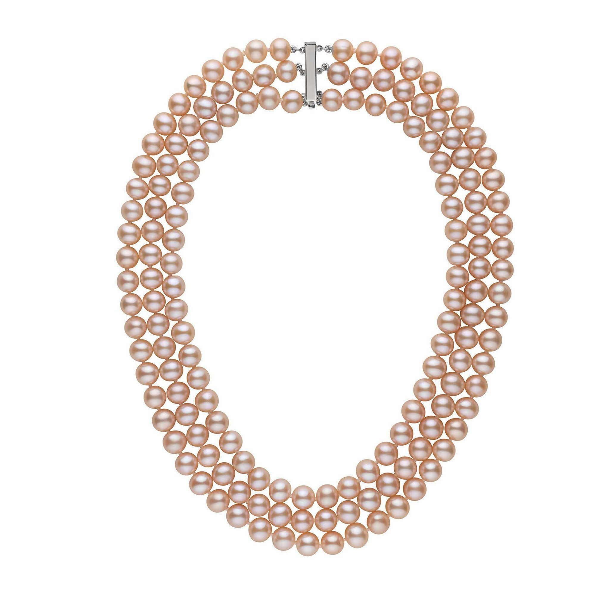 pink tara necklace products by necktie french pearl tyes kiss