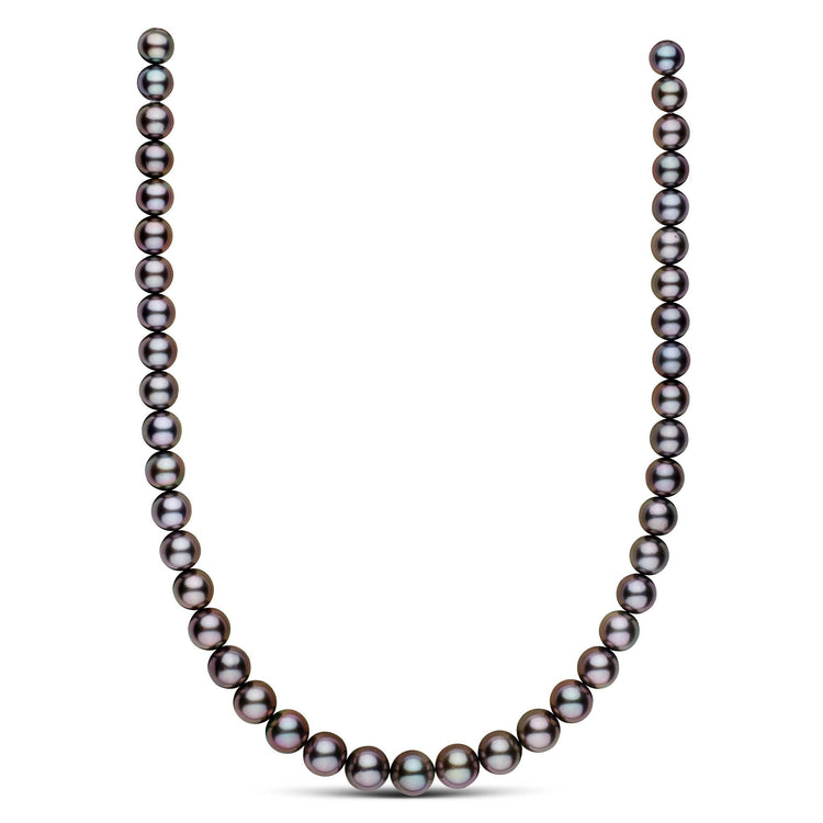18-inch 8.5-10.8 mm AA+/AAA Round Tahitian Pearl Necklace