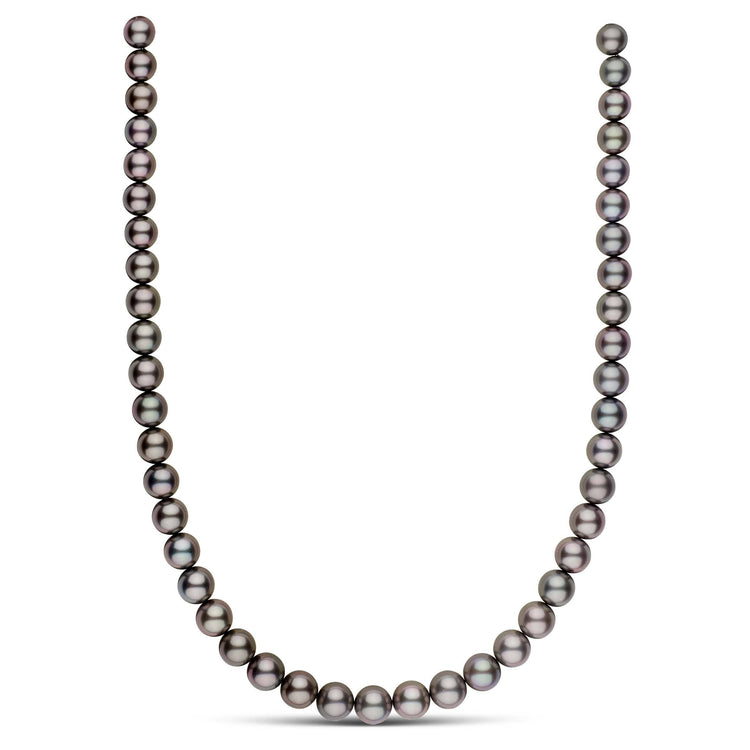 18-inch 8.0-10.0 mm AAA Round Tahitian Pearl Necklace