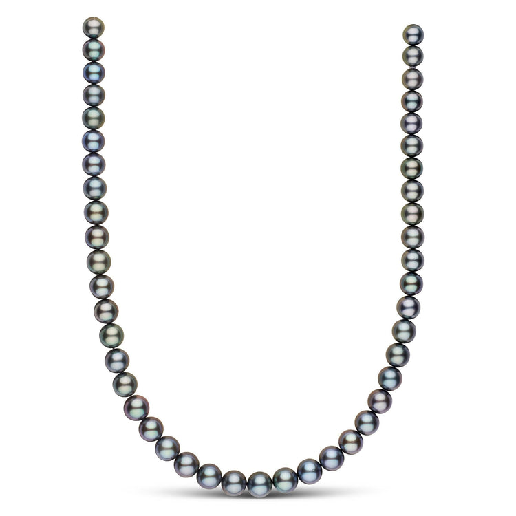 18-inch 8.2-9.9 mm AA+/AAA Round Tahitian Pearl Necklace