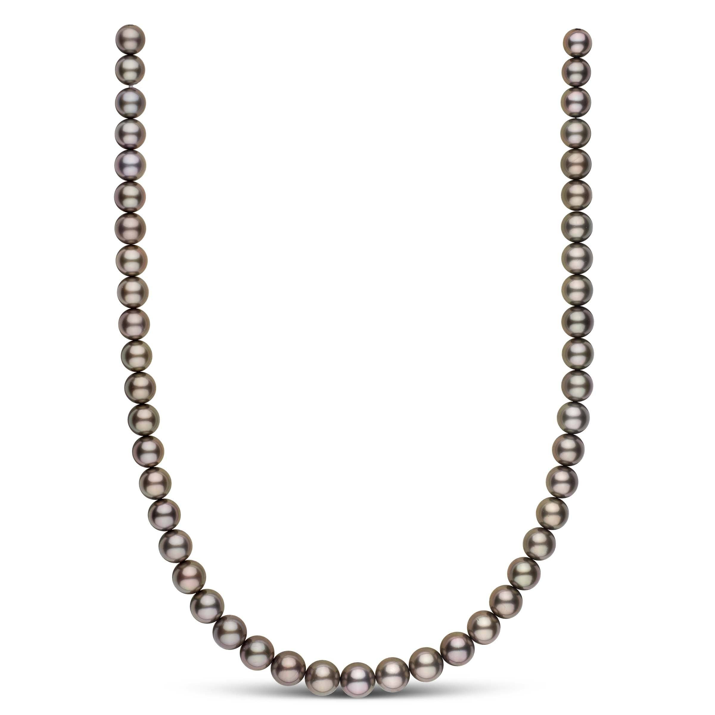 18-inch 8.1-9.8 mm AA+/AAA Round Tahitian Pearl Necklace