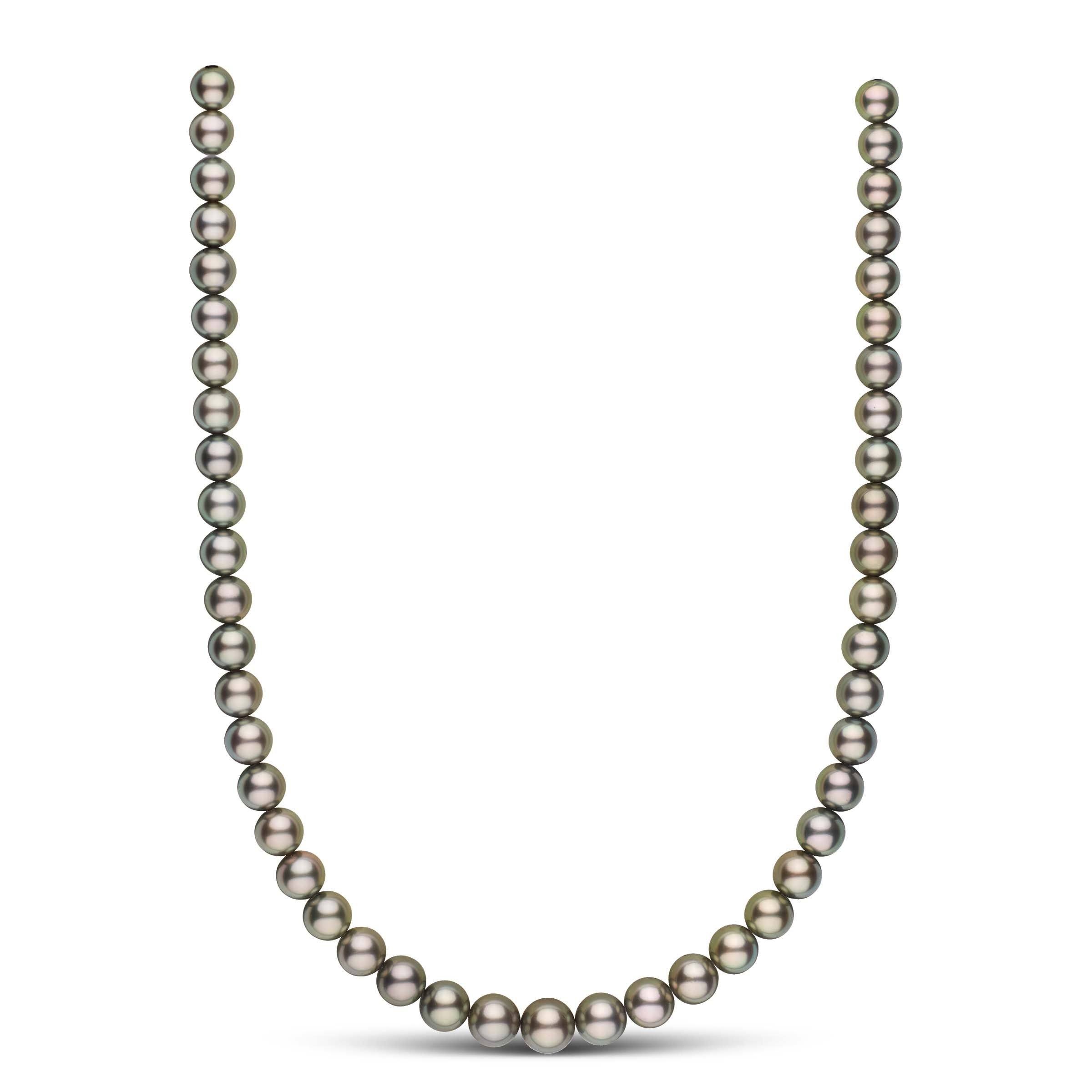 18-inch 8.0-10.2 mm AAA Round Tahitian Pearl Necklace
