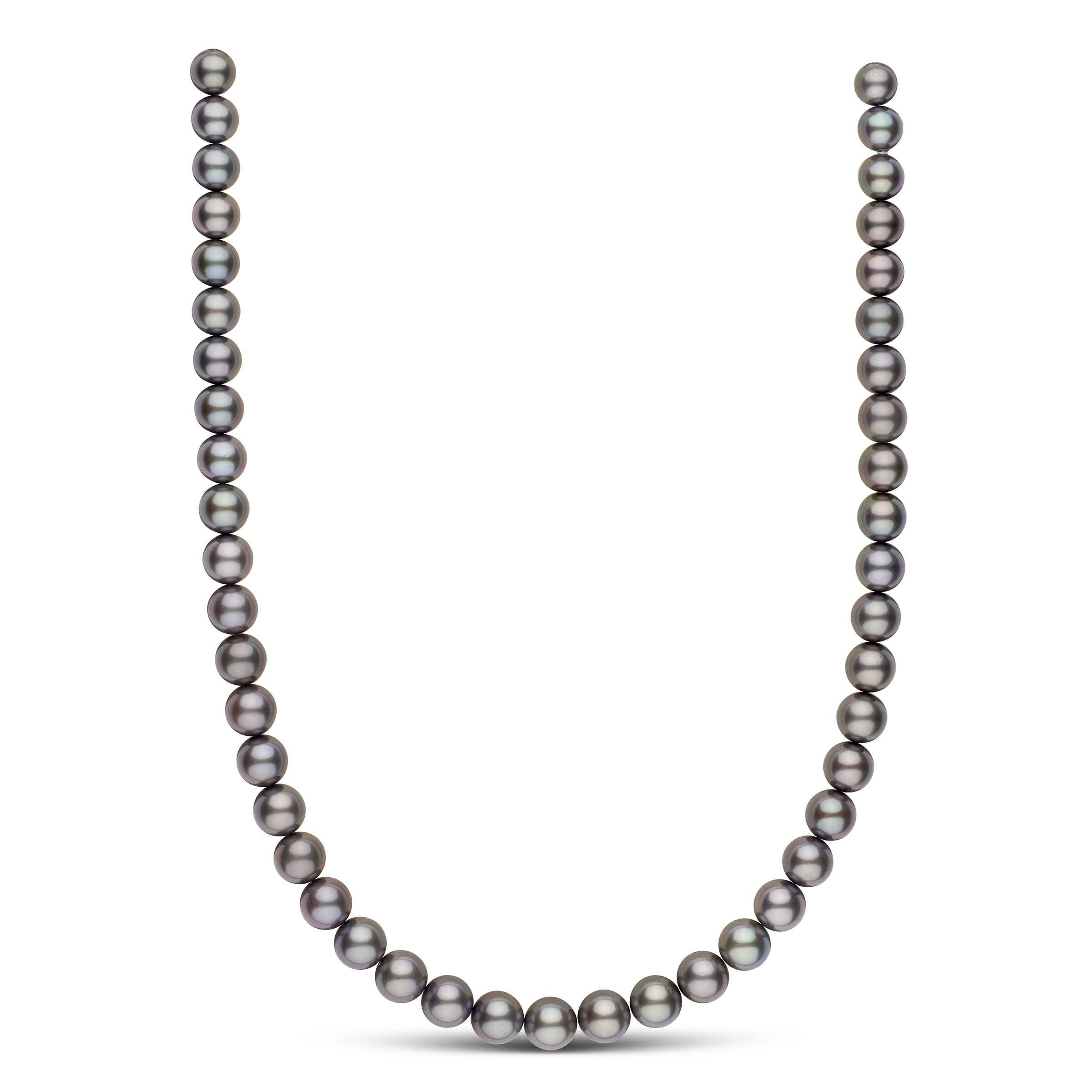 18-inch 8.0-9.9 mm AAA Round Tahitian Pearl Necklace