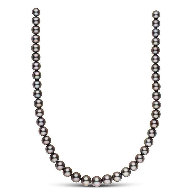 18-inch 8.2-10.8 mm AAA Round Tahitian Pearl Necklace