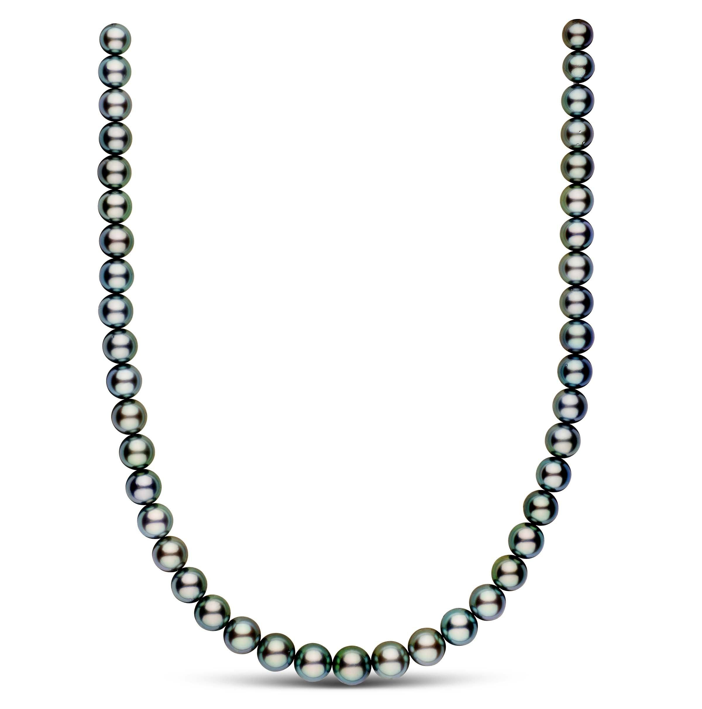 8.3-10.5 mm AAA Round Tahitian Pearl Necklace