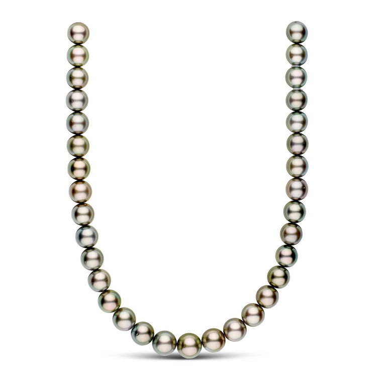 18-inch 12.0-13.9 mm AA+ Round Tahitian Pearl Necklace