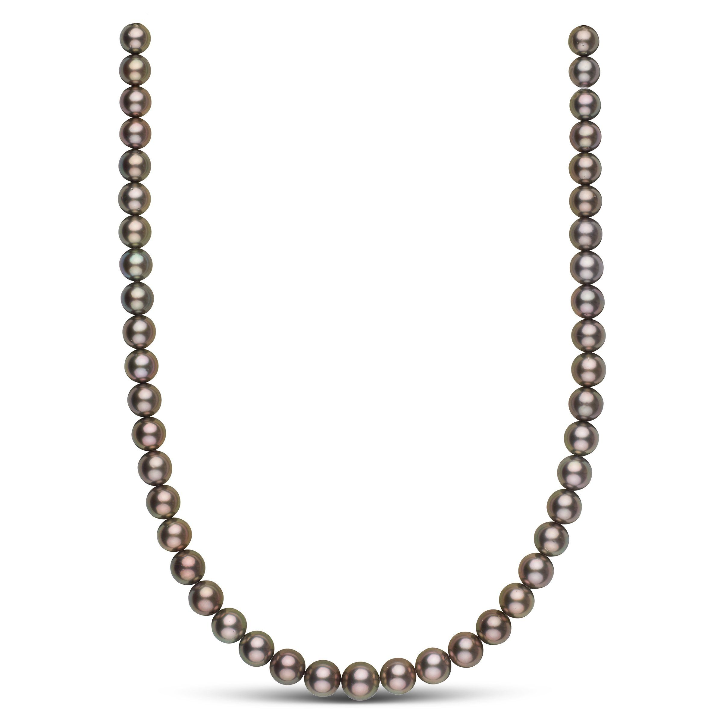 8.4-10.4 mm AA+/AAA Tahitian Round Pearl Necklace