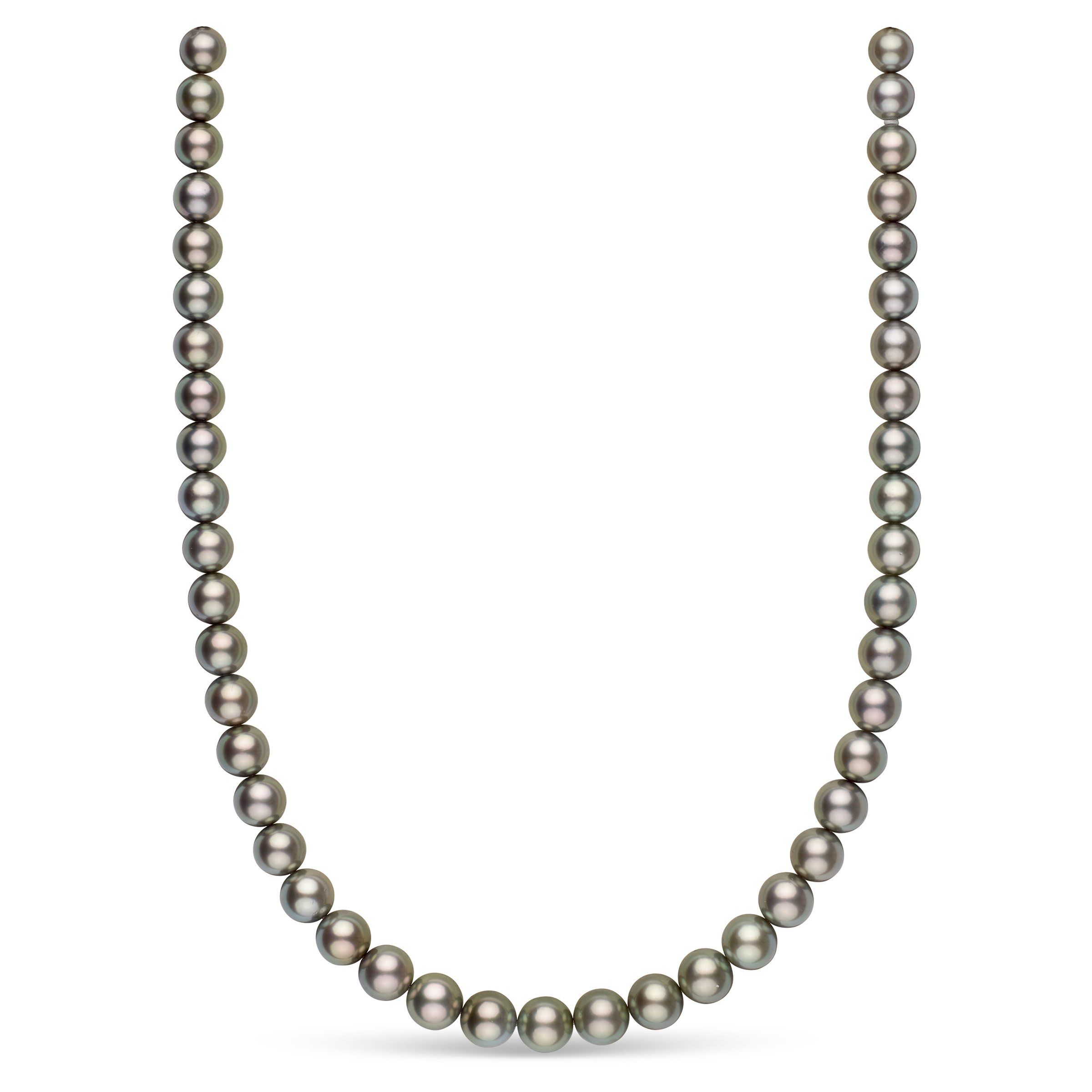 8.0-9.9 mm AAA Tahitian Round Pearl Necklace