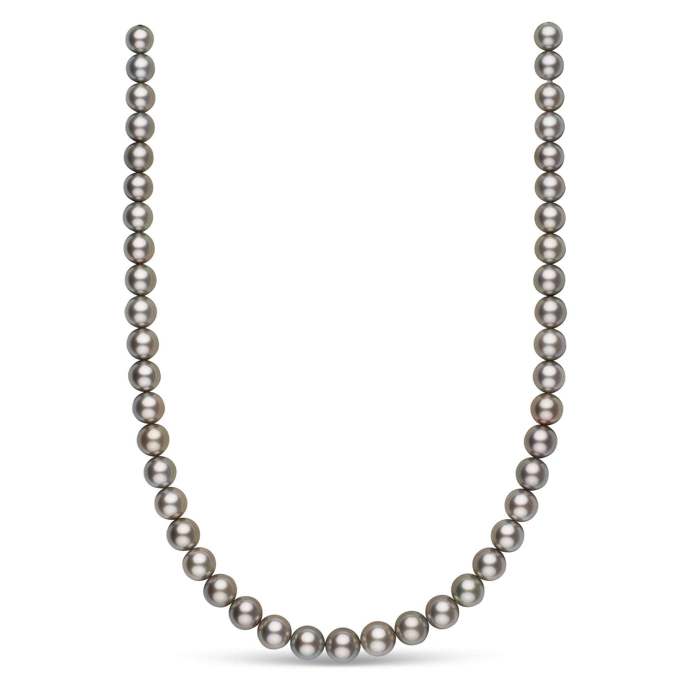8.5-10.5 mm AAA Tahitian Round Pearl Necklace