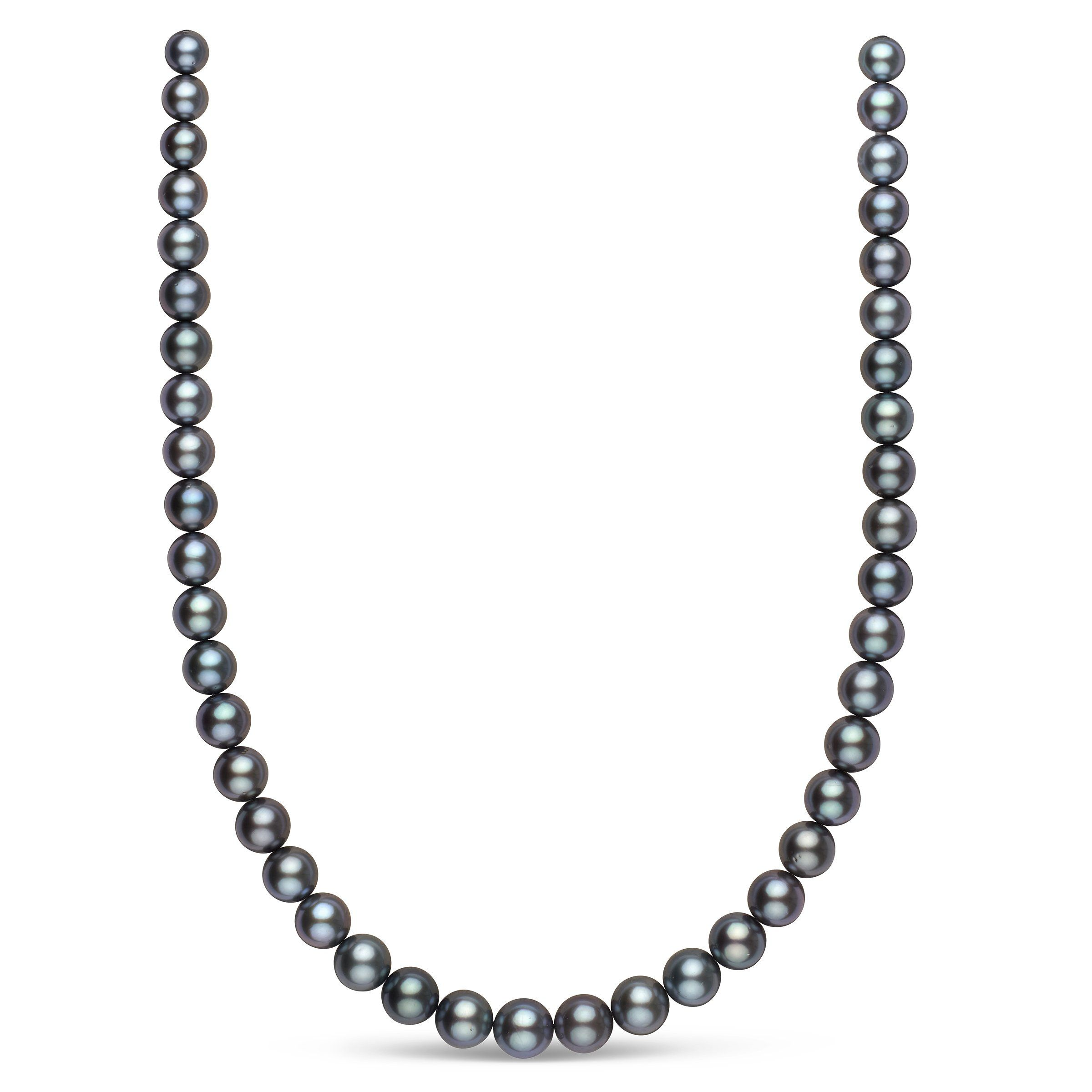 7.8-10.4 mm AA+/AAA Tahitian Round Pearl Necklace
