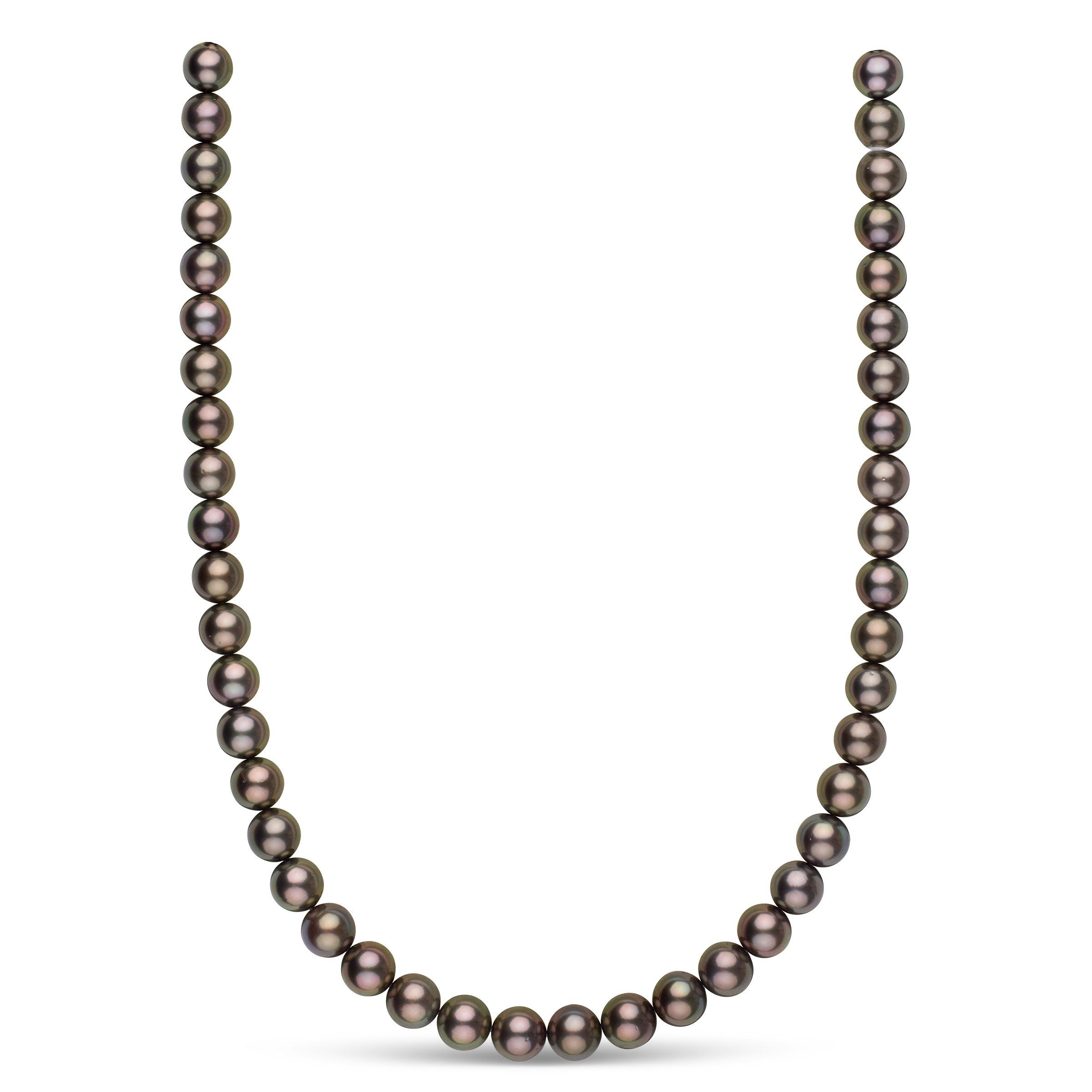 9.0-9.9 mm AA+/AAA Tahitian Round Pearl Necklace