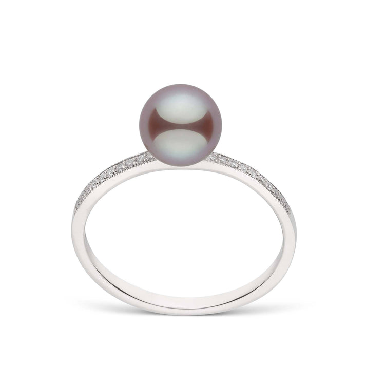 Twinkle Collection Lavender Freshadama Pearl and Diamond Ring