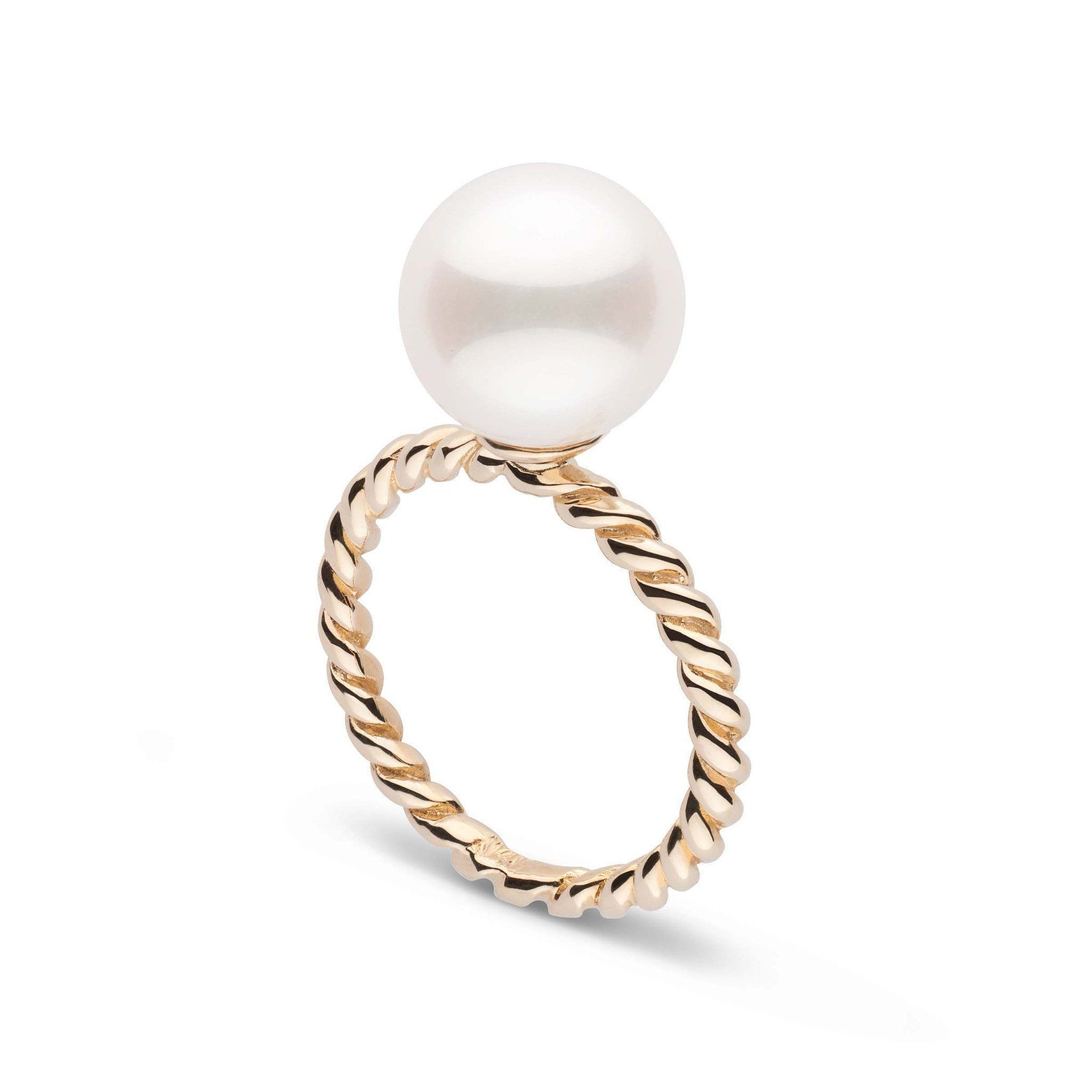 Twist Collection 10.0-11.0 mm Freshadama Pearl Ring