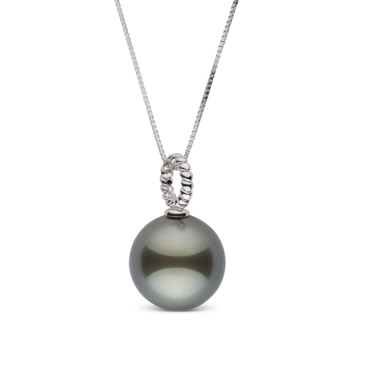 Twist Collection 11.0-12.0 mm Tahitian Pearl Pendant in Sterling Silver