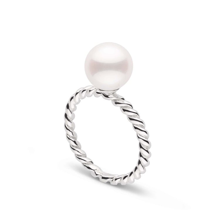 Twist Collection 8.0-9.0 mm Freshadama Pearl Ring in Sterling Silver