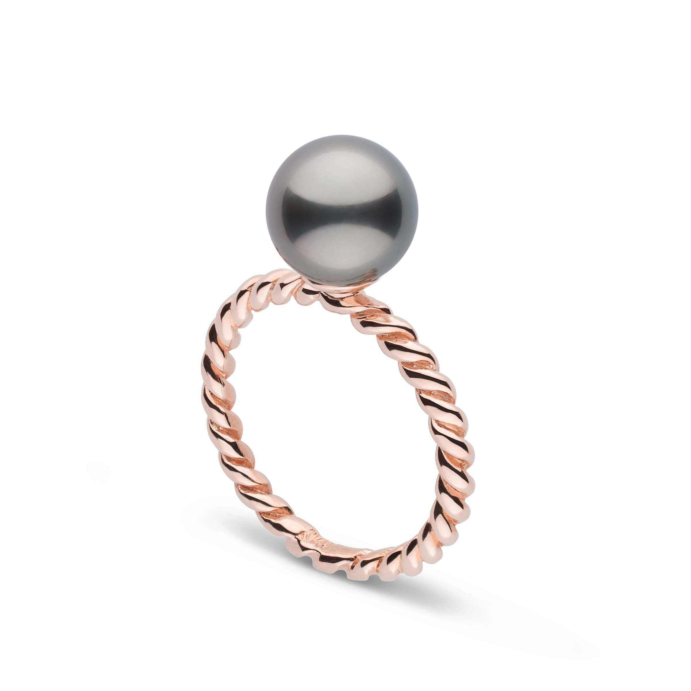 Twist Collection 8.0-9.0 mm Tahitian Pearl Ring