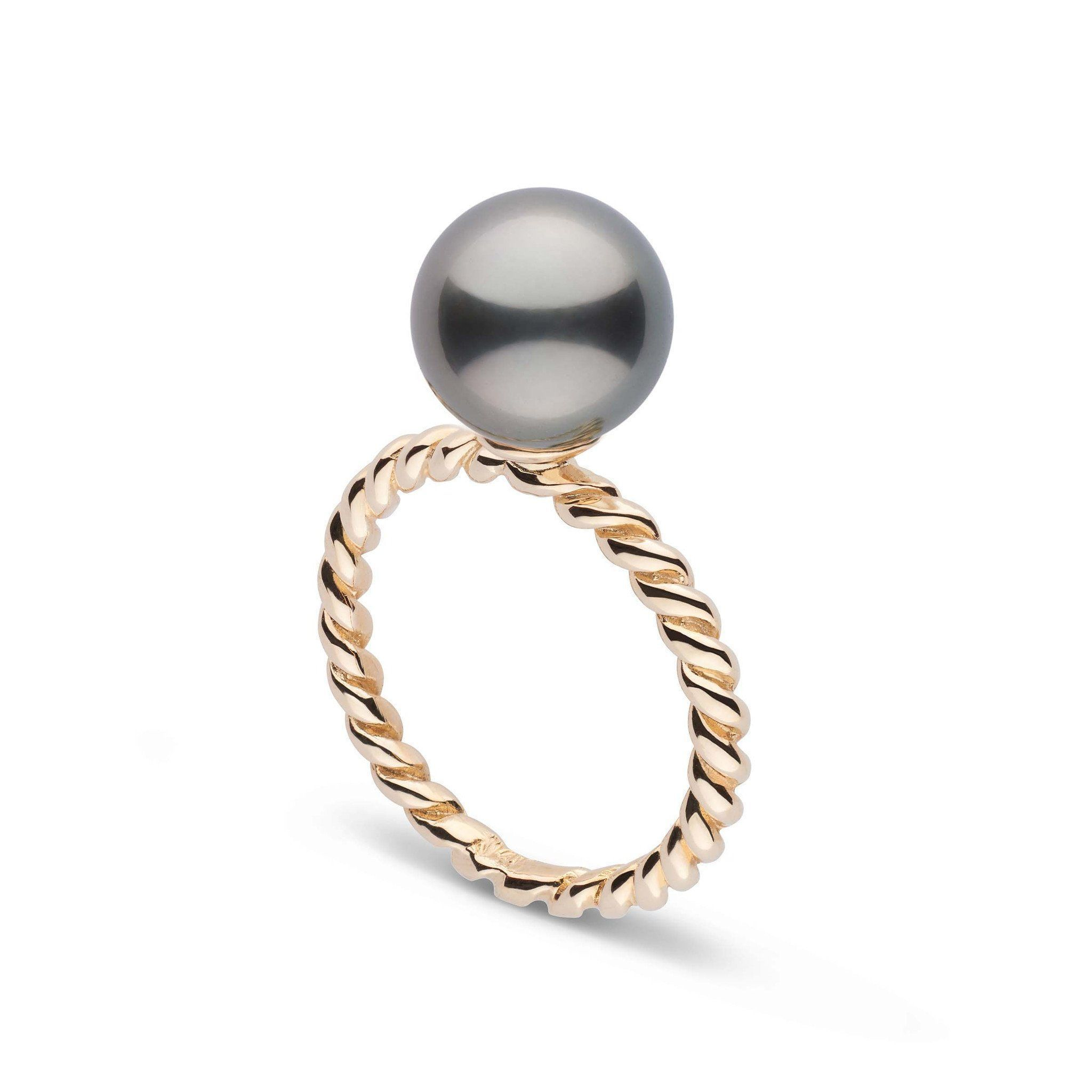 Twist Collection 9.0-10.0 mm Tahitian Pearl Ring