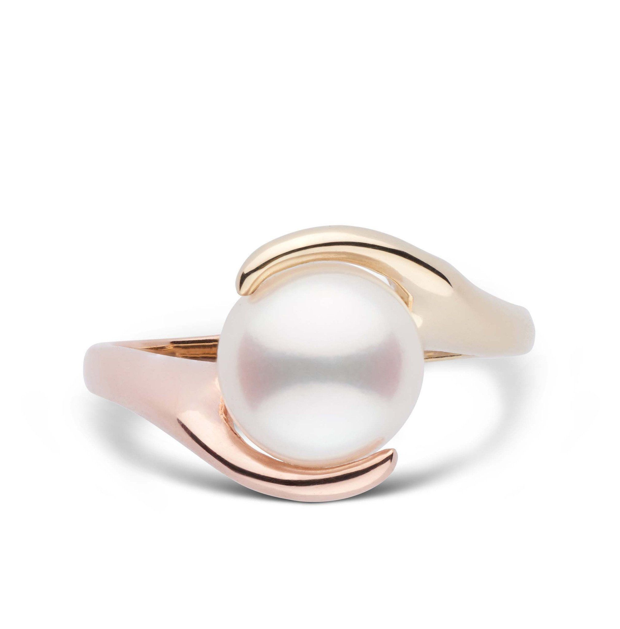 Two-Tone Embrace Collection Freshadama Pearl Ring