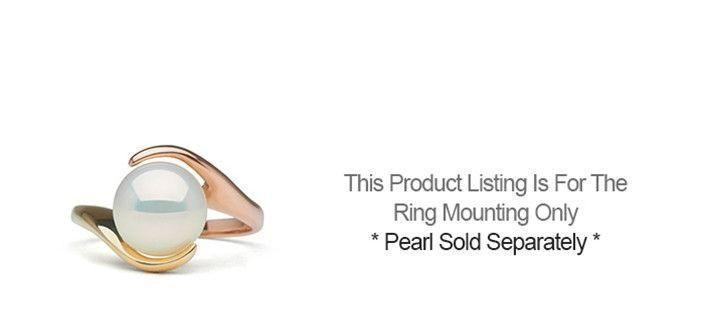 Two-Tone Embrace Collection Pearl Ring - Setting Only