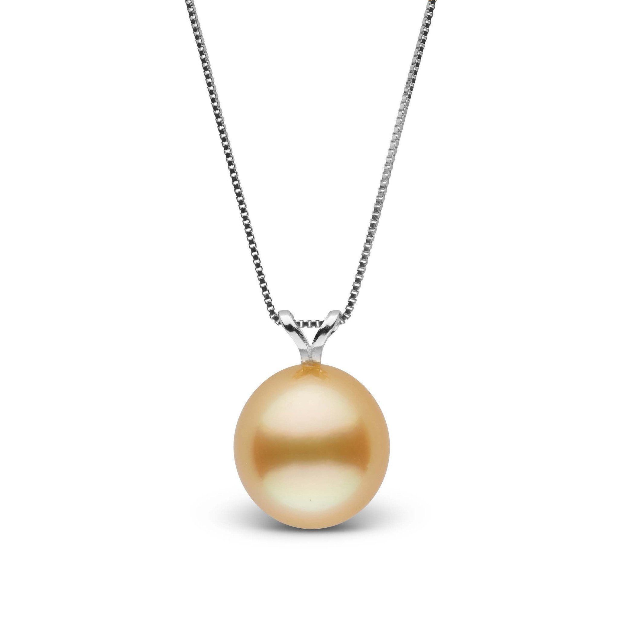 Unity Collection Drop Golden 9.0-10.0 mm South Sea Pearl Pendant