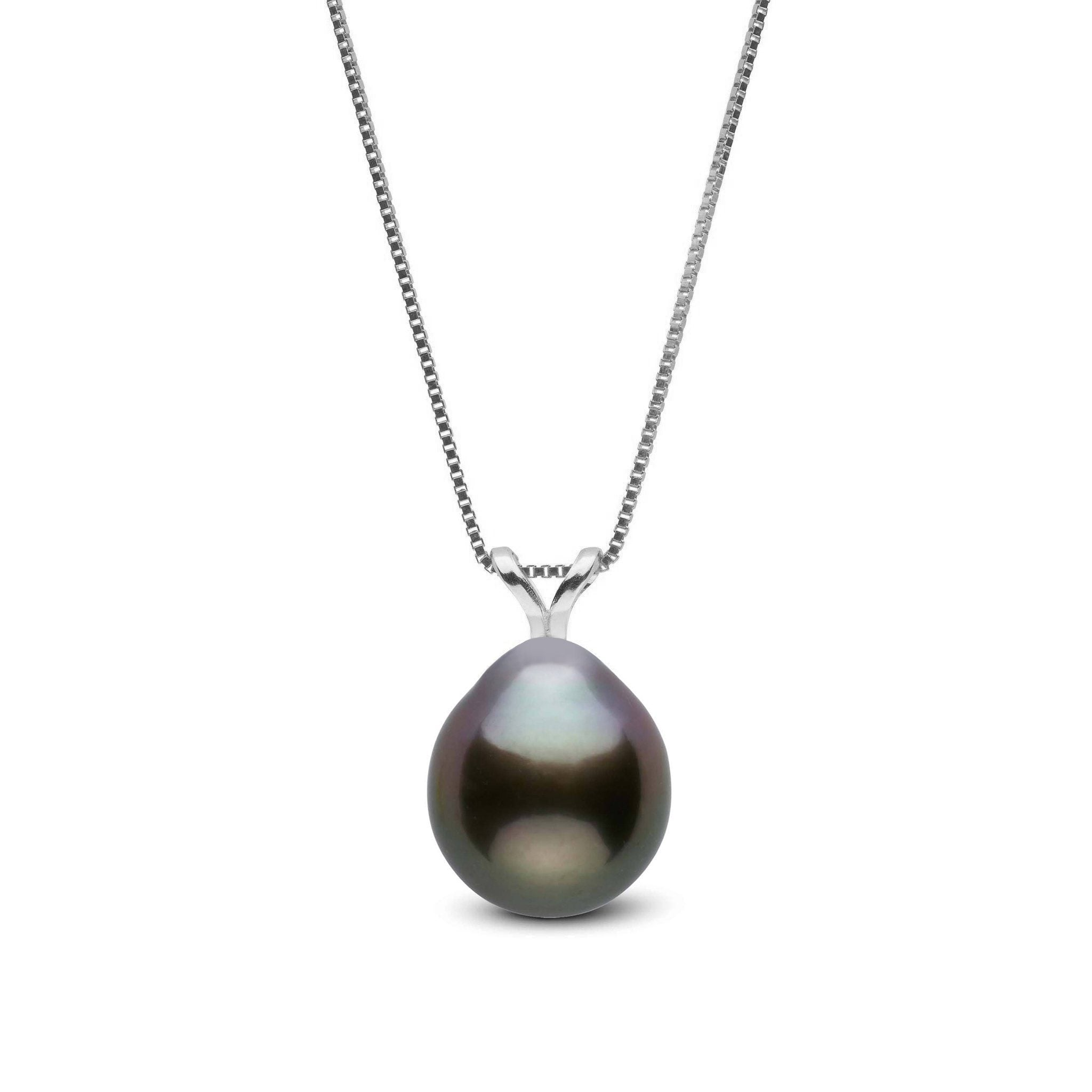 Unity Collection 8.0-9.0 mm Drop Tahitian Pearl Pendant