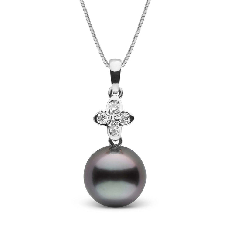 Violet Collection 11.0-12.0 mm Tahitian Pearl and Diamond Pendant