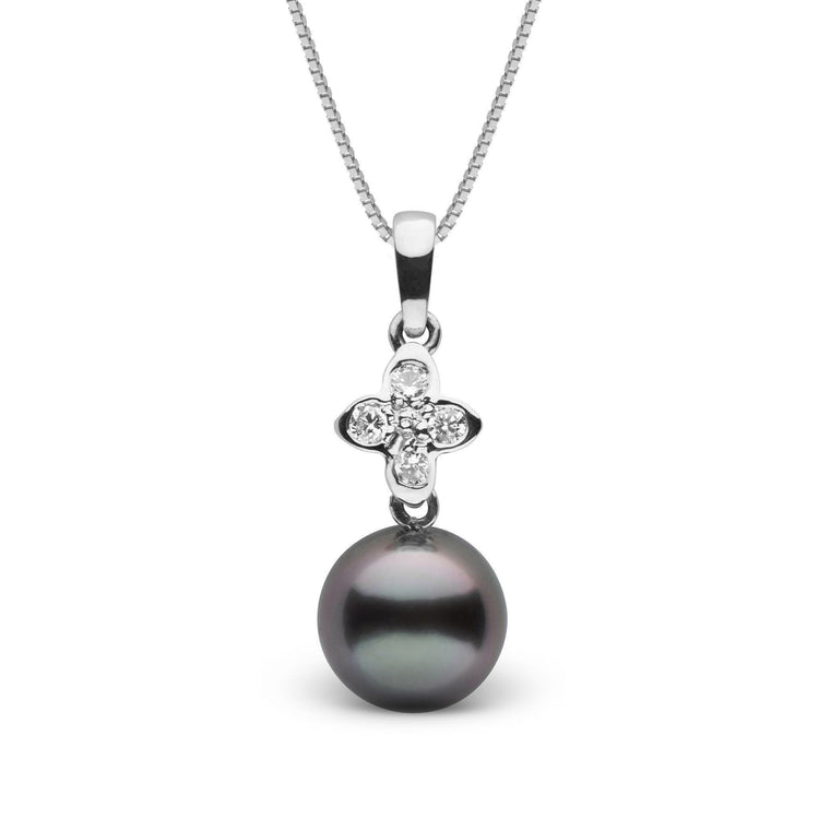 Violet Collection 9.0-10.0 mm Tahitian Pearl and Diamond Pendant
