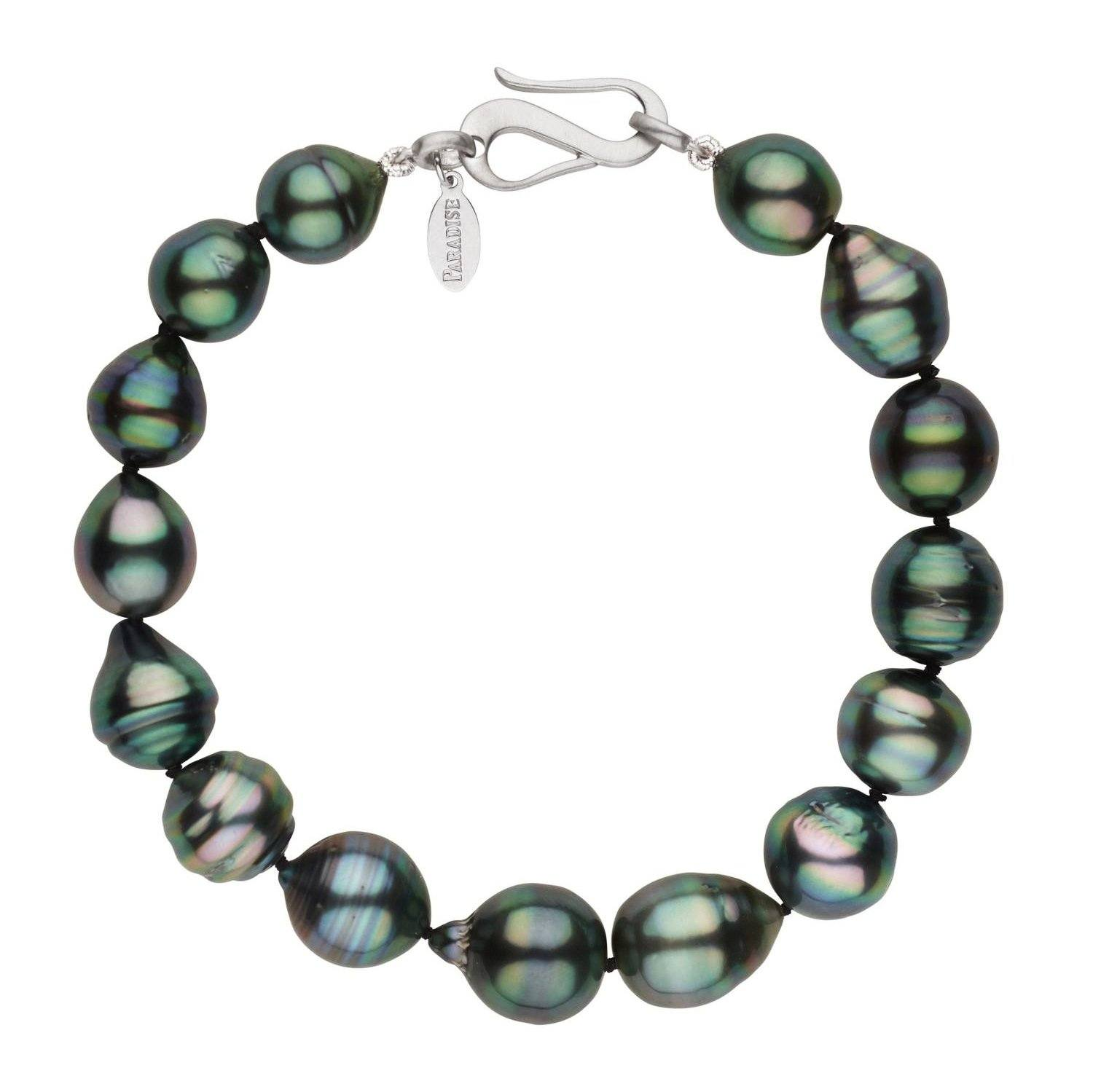 Screaming Green with Peacock Sheen Tahitian Pearl Bracelet