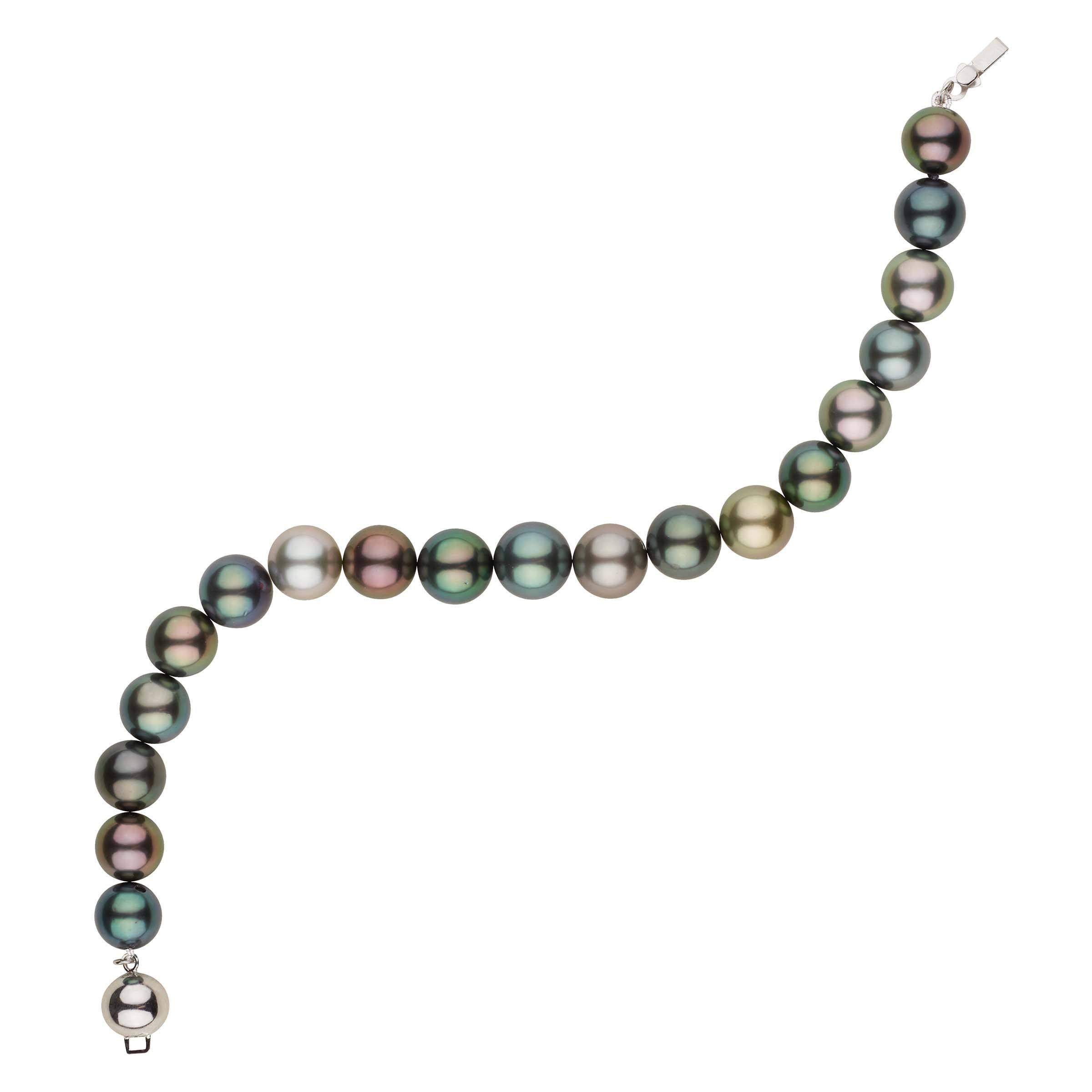 Exotic Fancy-color Tahitian Pearl Bracelet 8.0-9.36 mm
