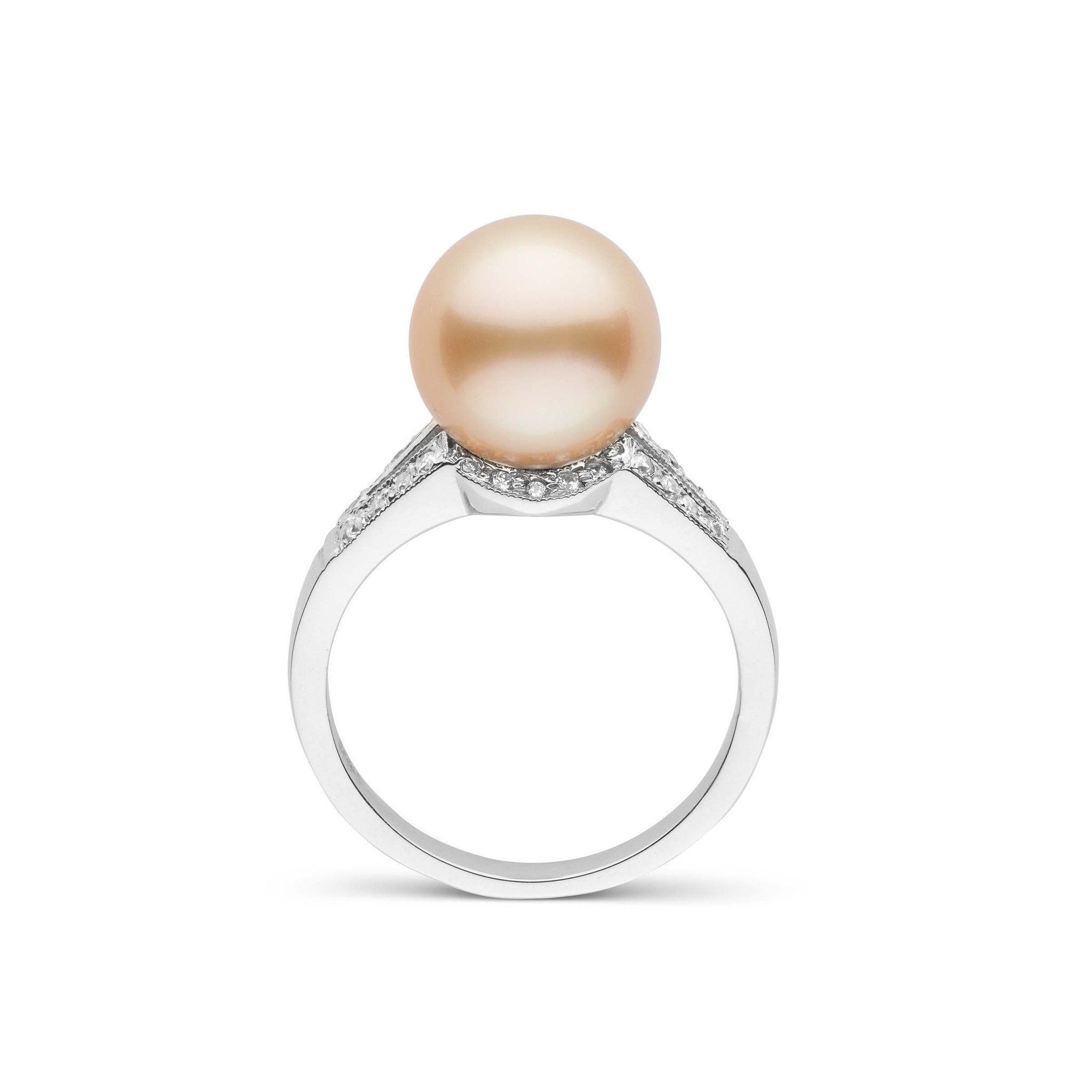 Vixen Collection Golden South Sea Pearl Ring 18K