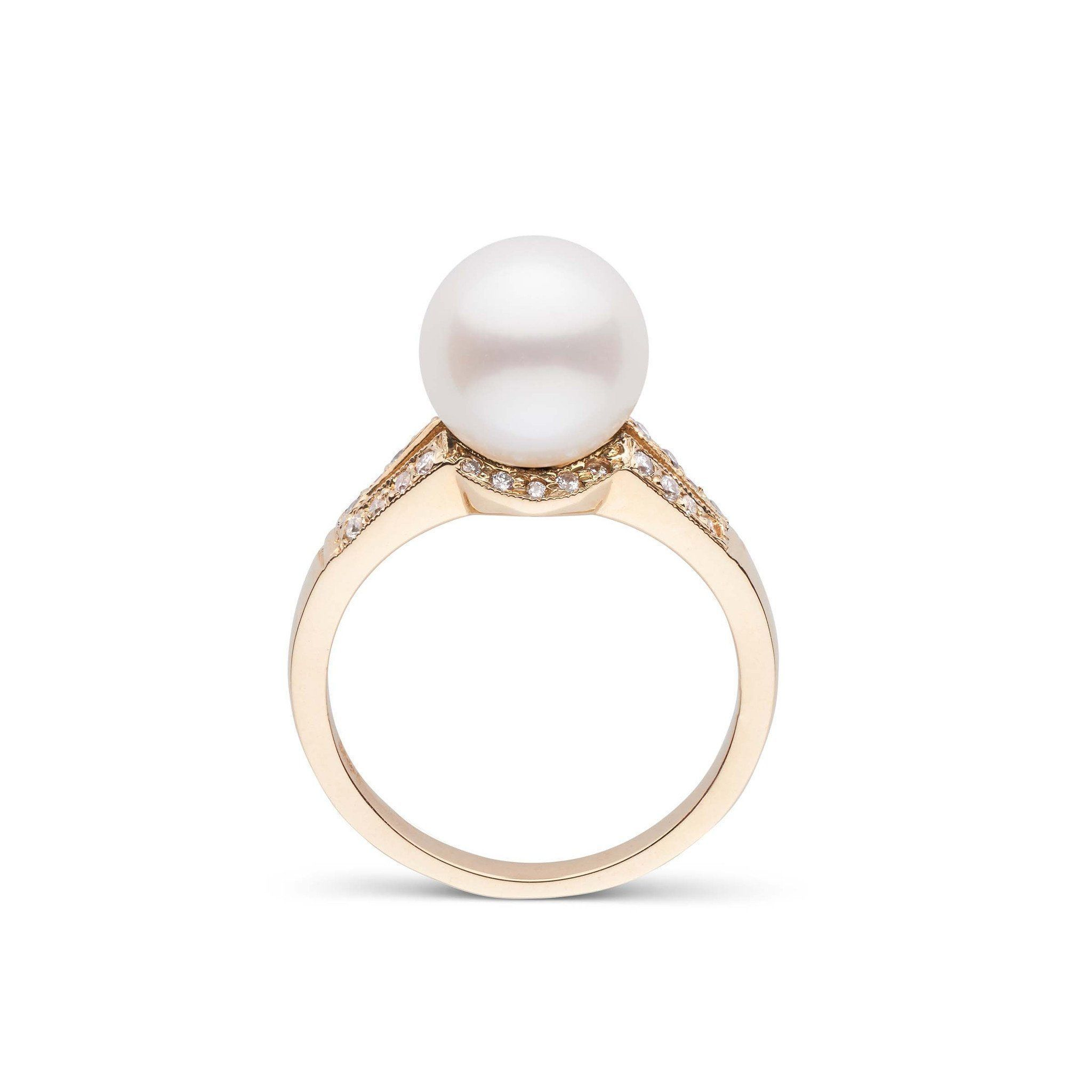 Vixen Collection White South Sea Pearl Ring 18K