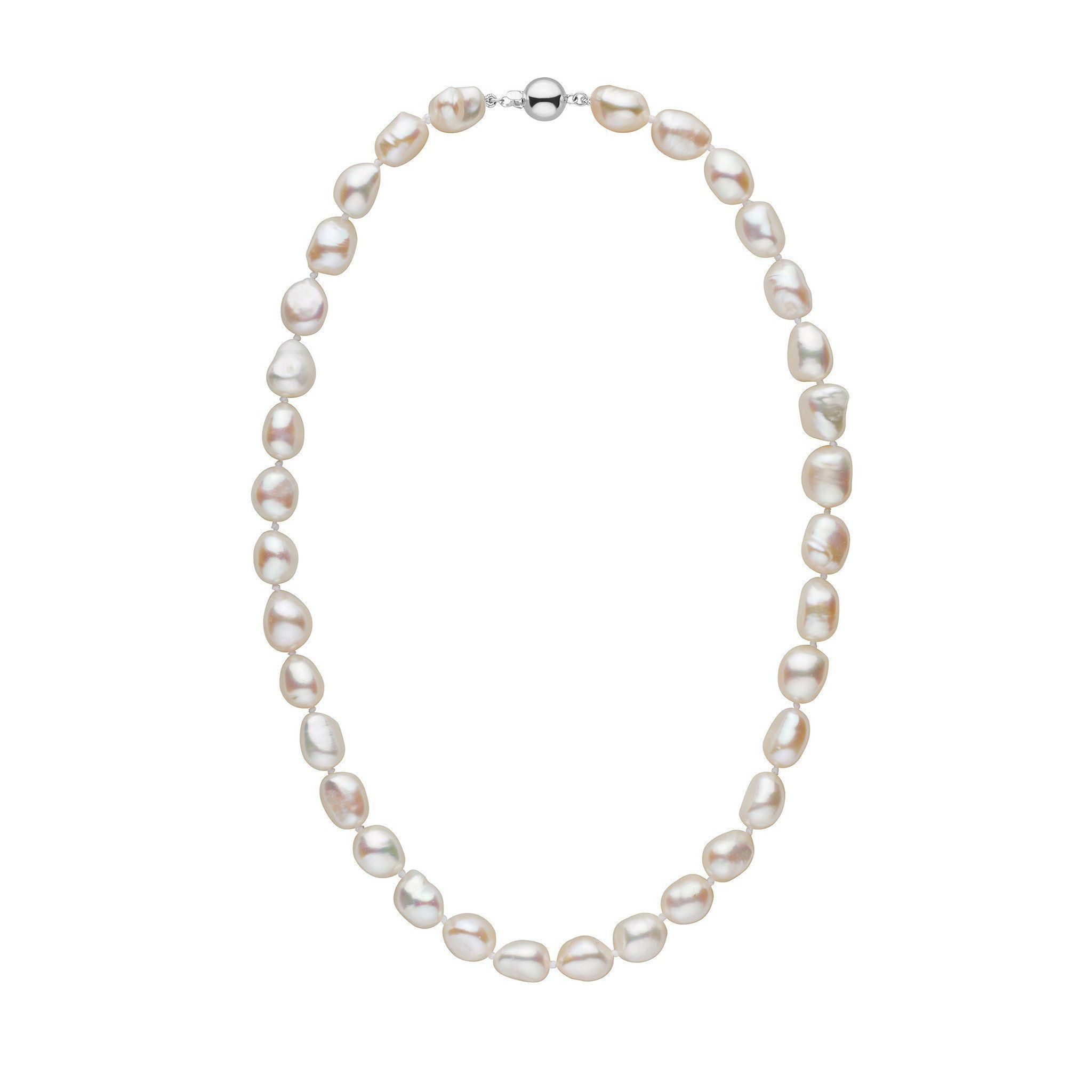 White Freshwater Baroque Pearl Necklace