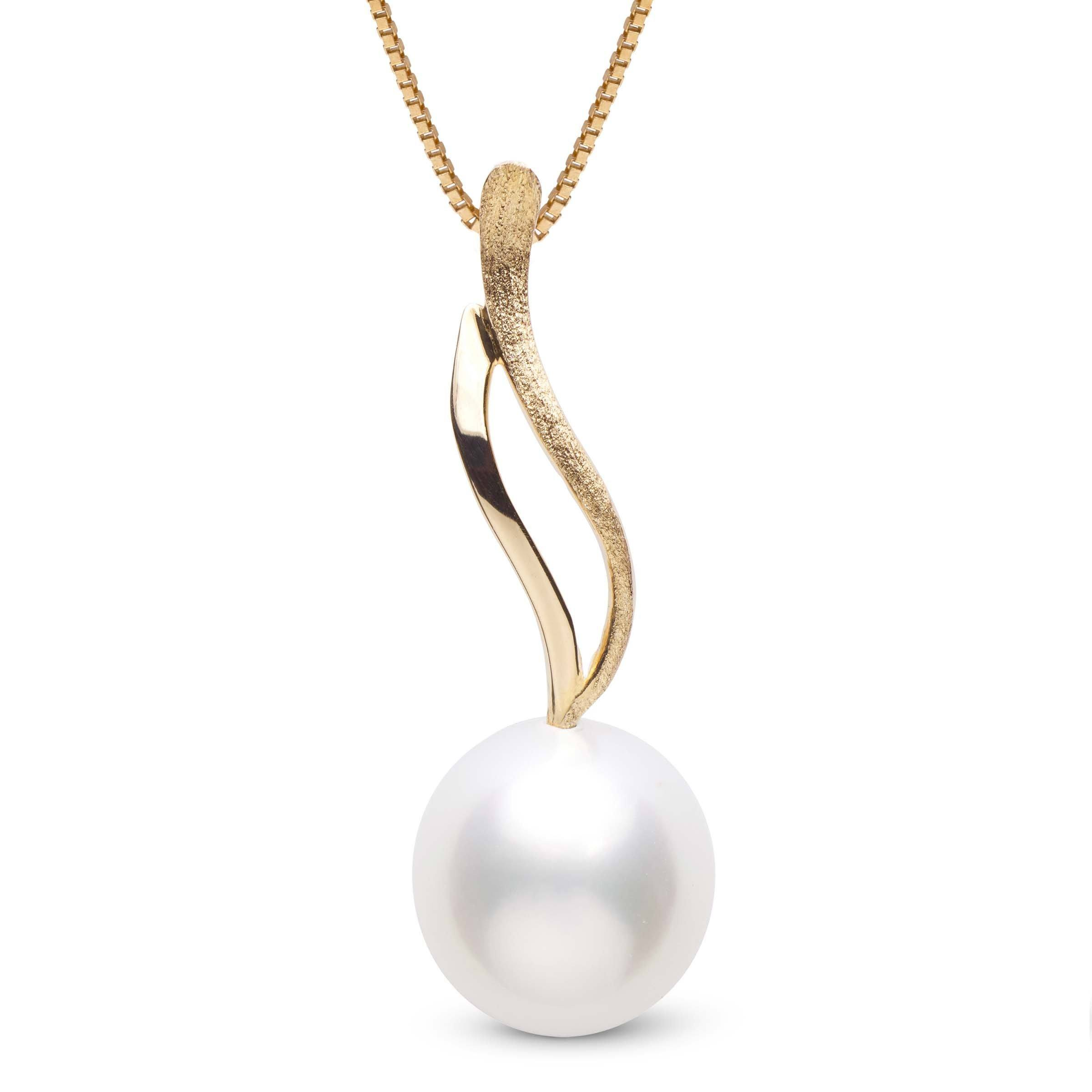 Wisp Collection 11.0-12.0 mm Drop White South Sea Pearl Pendant