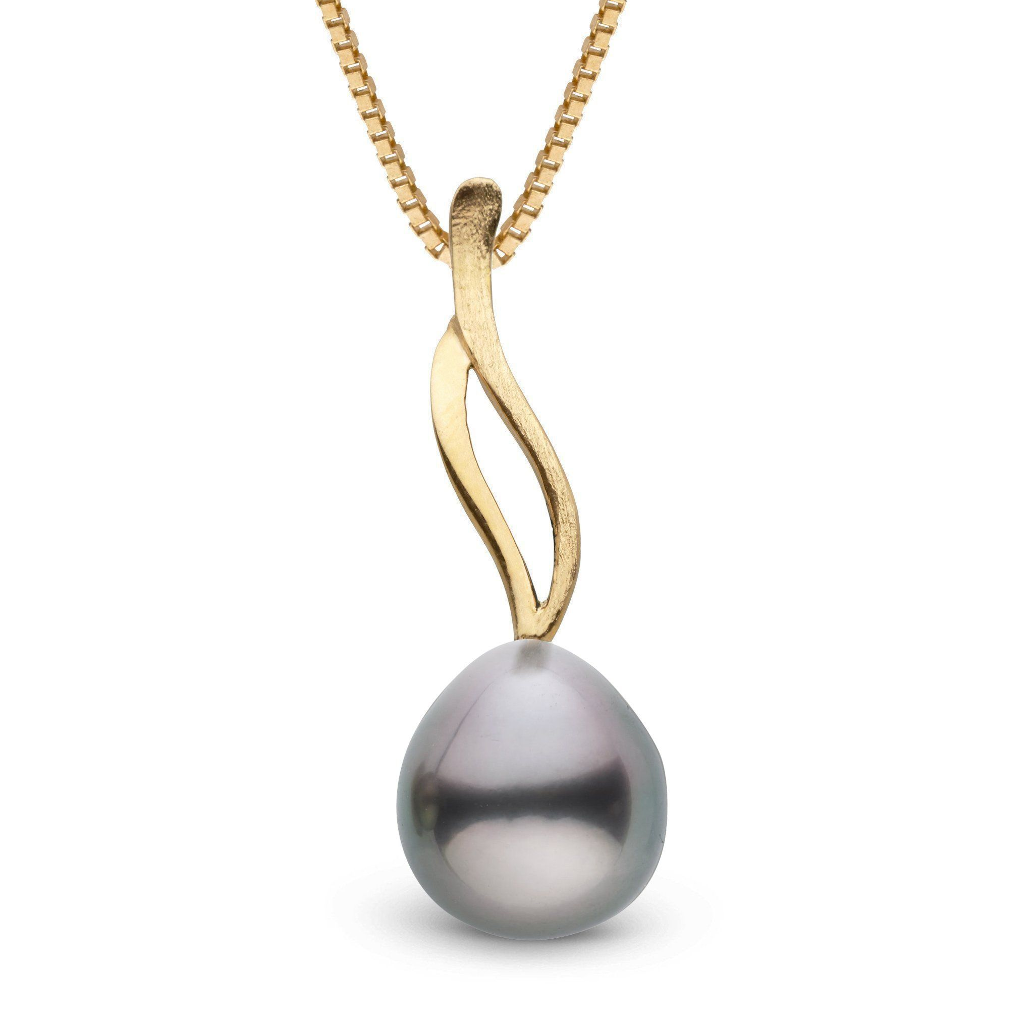 Wisp Collection Tahitian Drop 8.0-9.0 mm Pearl Pendant