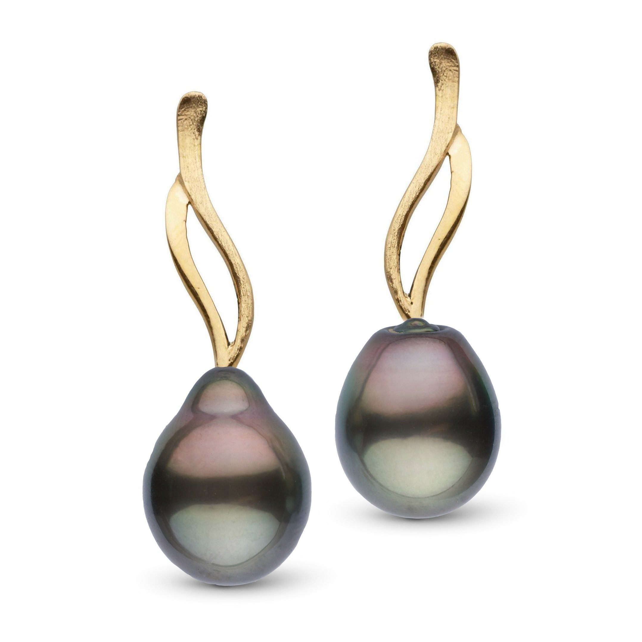 Wisp Collection Tahitian Drop 11.0-12.0 mm Pearl Earrings