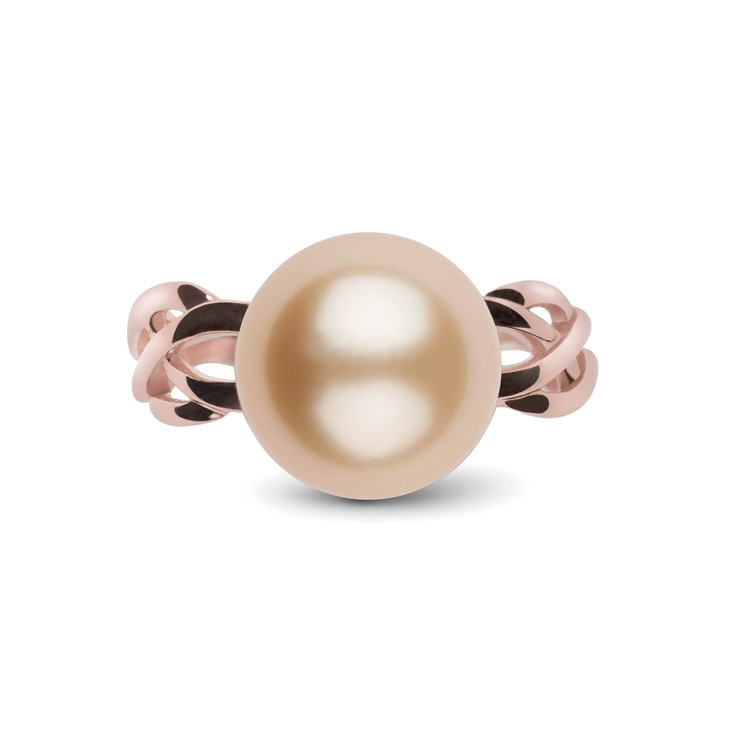 Wisp Collection 11.0-12.0 mm Golden South Sea Pearl Ring