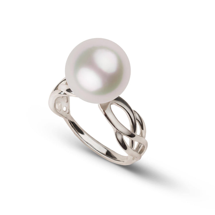 Wisp Collection 11.0-12.0 mm White South Sea Pearl Ring