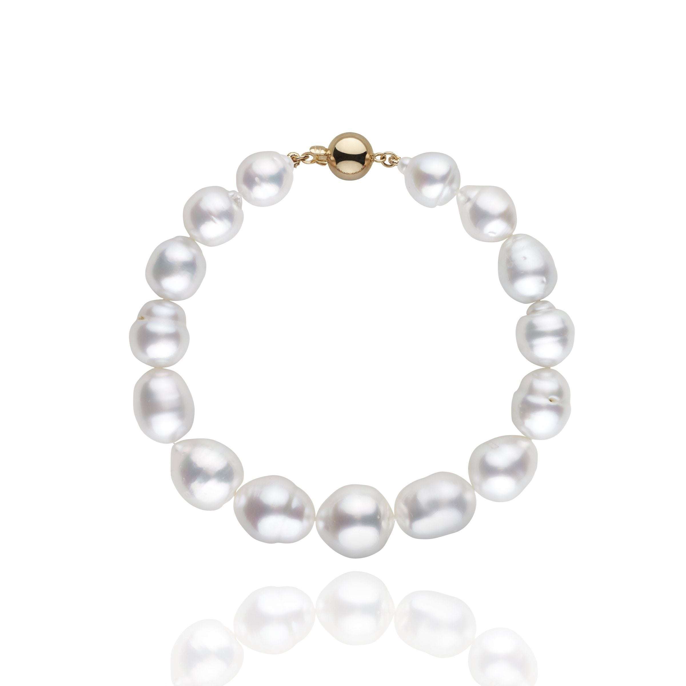 8.7-11.7 mm AA+/AAA White South Sea Baroque Bracelet
