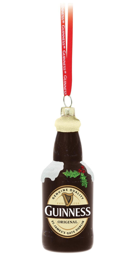 Guinness Glass Bottle Christmas Ornament