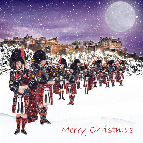 Christmas Card Pack - 11 Pipers Piping